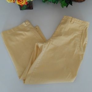 Sigrid Olsen |Vtg Capri Pants Stretch Yellow Sz8